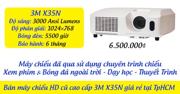 Bán máy chiếu HD cũ cao cấp 3M X35N giá rẻ tại TpHCM