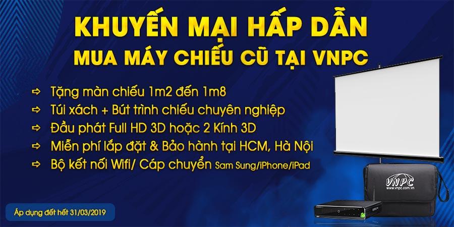 Khuyến mại máy chiếu cũ giá rẻ tại TPHCM và Hà Nội
