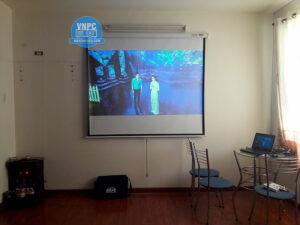 Lắp đặt máy chiếu Sony VPL-EX100 cũ khu căn hộ quận Tân Phú
