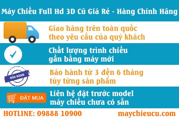 Bán Máy chiếu Full Hd 3D cũ giá rẻ hàng chính hãng