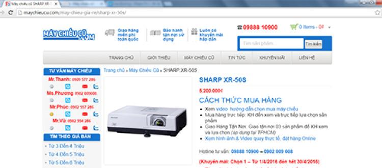 Hướng dẫn đặt mua máy chiếu cũ Online