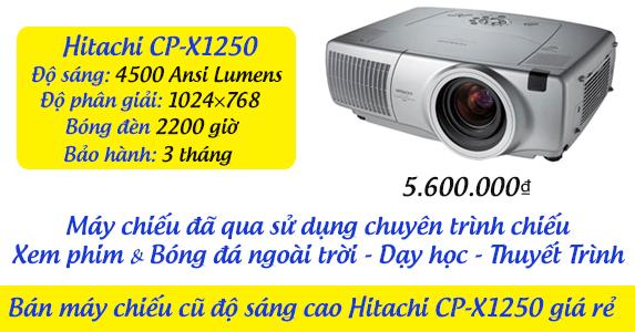 Bán máy chiếu cũ độ sáng cao Hitachi CP-X1250 giá rẻ