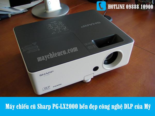 Máy chiếu cũ Sharp PG-LX2000 bền đẹp công nghệ DLP của Mỹ