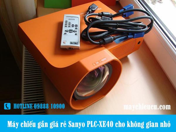 Máy chiếu gần giá rẻ Sanyo PLC-XE40 cho không gian nhỏ
