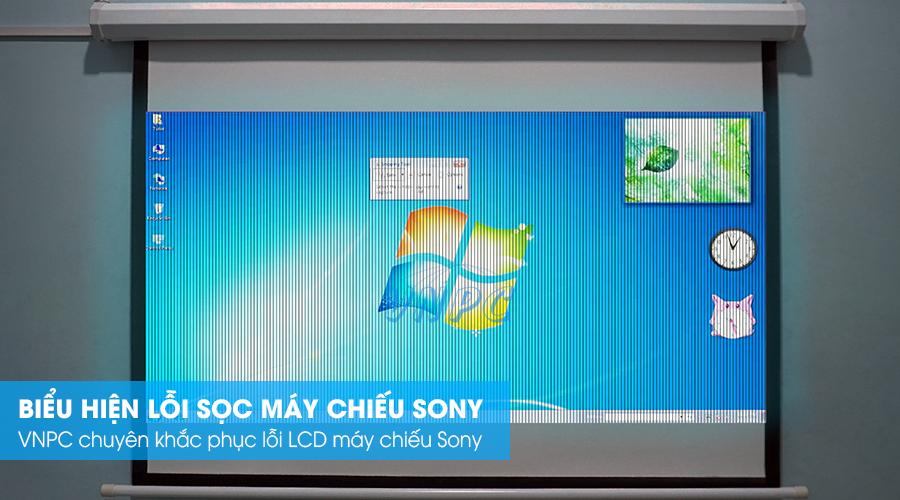 Biểu hiện sọc hình máy chiếu Sony