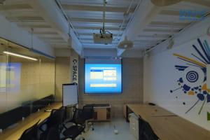 Lắp đặt Epson EB-X05 cũ & Màn chiếu treo tường 100 inch