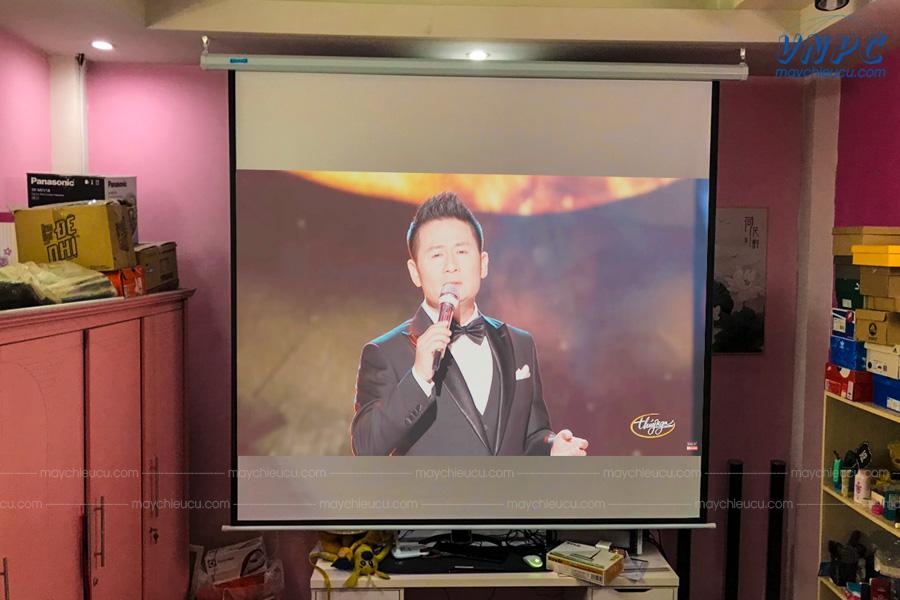 Lắp đặt Sony VPL-DX241 và màn chiếu điện 120 inches