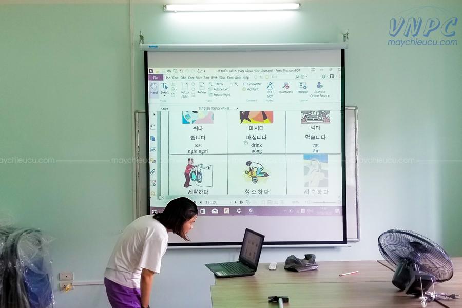 Lắp đặt 2 bộ Panasonic PT-LB51 cho Trung tâm ngoại ngữ tại Hà Nội