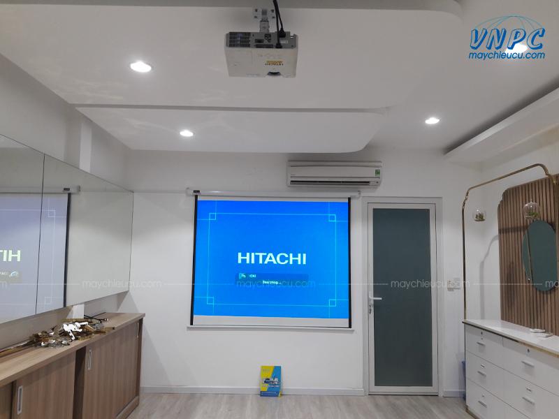 """Lắp đặt Hitachi CP-EX300 và Màn chiếu điện 100"""""""