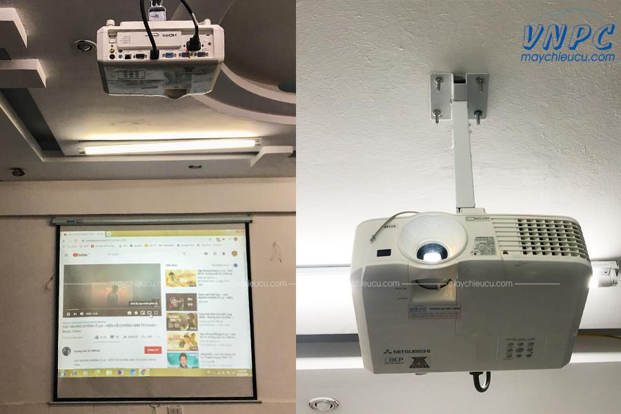 Lắp máy chiếu Mitsubishi EX240U tại Trung tâm Anh ngữ Alibaba Hà Nội